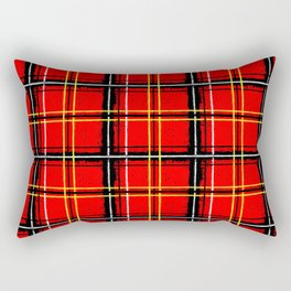 grunge plaid Rectangular Pillow