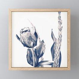 Glass rose Framed Mini Art Print