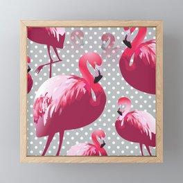 Watercolor Flamingo Pattern 6 Framed Mini Art Print