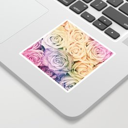Some people grumble - Colorful Roses - Rose pattern Sticker