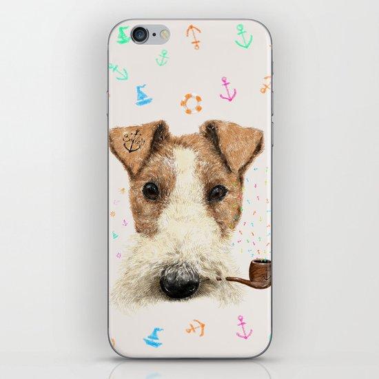 fox terrier sailor iPhone & iPod Skin