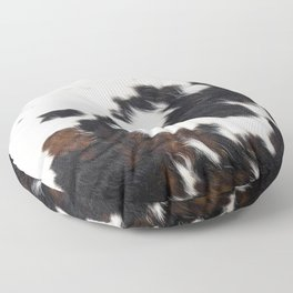 Brown Cowhide Floor Pillow