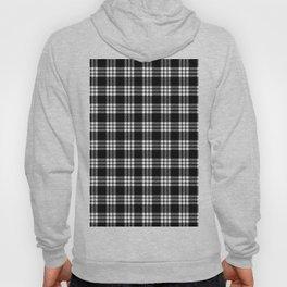 MacFarlane Black + White Tartan Modern Hoody