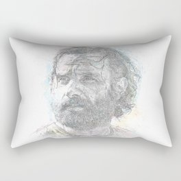 Rick Grimes - Intrepid Leader from the Walking Dead Rectangular Pillow