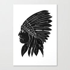 Chief / Black Edition Canvas Print