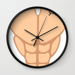 Six Pack I'm 43th Birthday Funny Men Wall Clock