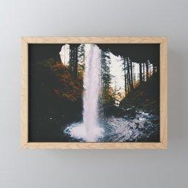 Behind The Falls Framed Mini Art Print