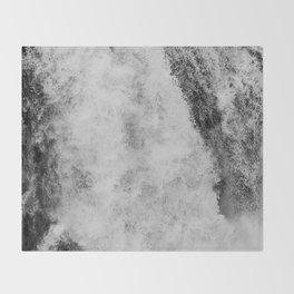 The hidden waterfall Throw Blanket