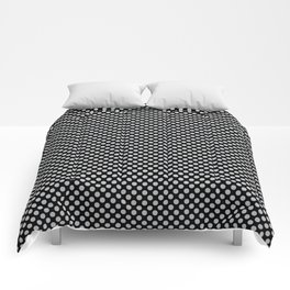 Black and Glacier Gray Polka Dots Comforters