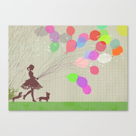 A walk after the rain Canvas Print