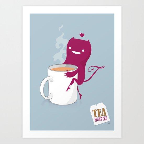 Tea Monster Art Print