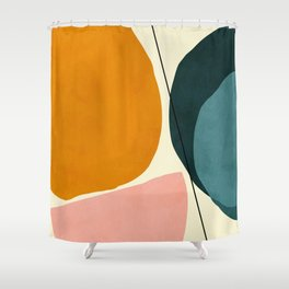 shapes geometric minimal painting abstract Shower Curtain