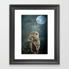 Winter Moon Framed Art Print