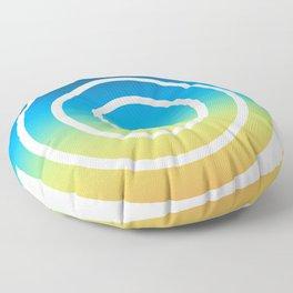 Blue and Green Spiral Floor Pillow