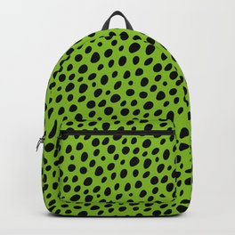 Black Pebbles on Green Ground Backpack