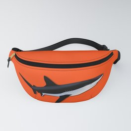 Bright Fluorescent Shark Attack Orange Neon Fanny Pack