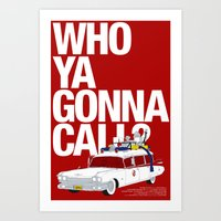 ghostbusters Art Prints featuring Ghostbusters by Martin Lucas