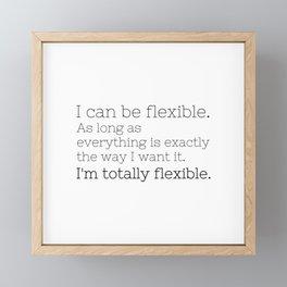 I'm totally flexible - GG Collection Framed Mini Art Print