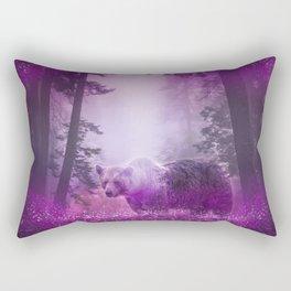 Fairy bear out of the woods Rectangular Pillow