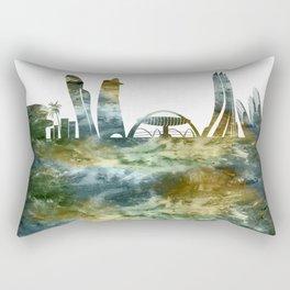 Abu Dhabi City Skyline Rectangular Pillow