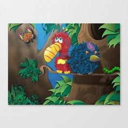 A Feathery Friendship Canvas Print