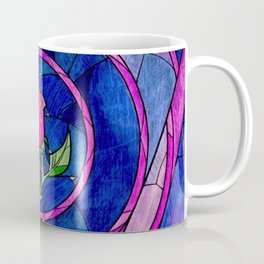 Enchanted Rose Stained Glass Coffee Mug
