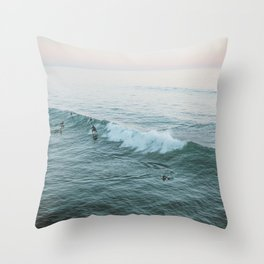 Let's Surf V Throw Pillow