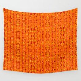 Orange Aztek Abstract Print Wall Tapestry