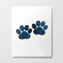 Dog Paw Prints Metal Print