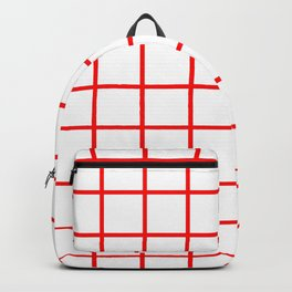 GRID DESIGN (RED-WHITE) Backpack