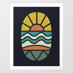 Lets Go Surfing Art Print