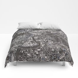Rome city map Comforters
