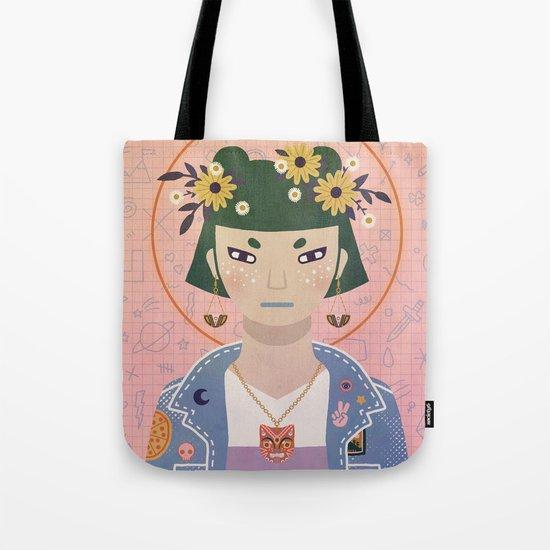 Doodles Portrait Tote Bag