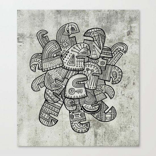 Heads Canvas Print