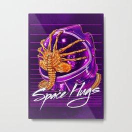 Space Hugs Metal Print