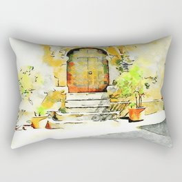Door of the church Tortora Rectangular Pillow