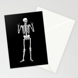 Metal and Rock and Roll Skeleton Stationery Cards