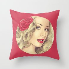 Christina Aguilera Throw Pillow