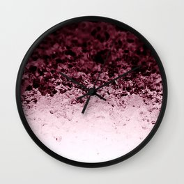 Burgundy CrYSTALS Ombre Gradient Wall Clock