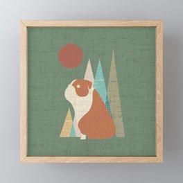 Waiting for you English Bulldog Framed Mini Art Print