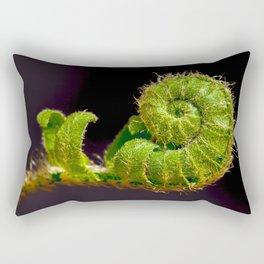 Here I Am! (Unfurling Fern Frond) Rectangular Pillow
