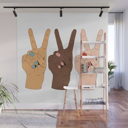 Peace Hands 3 Wall Mural
