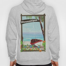 Mozambique fishing travel poster Hoody