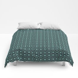 Celosia Aqua Black Comforters