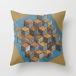 Tumbling Blocks #5 Throw Pillow
