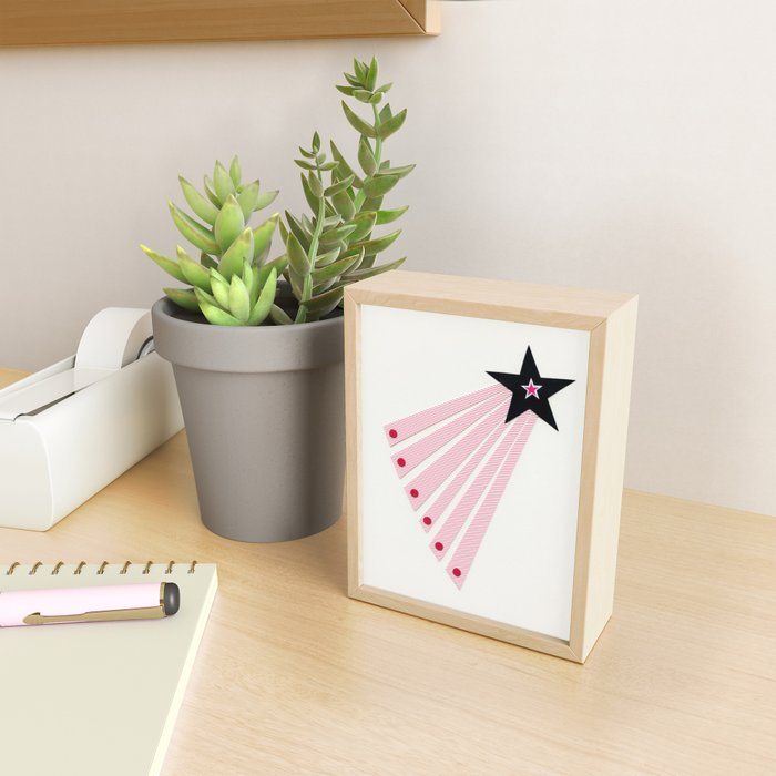 Shooting Star Framed Mini Art Print
