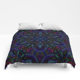 Near Black Daylily (under metaphorical blacklight) Comforters