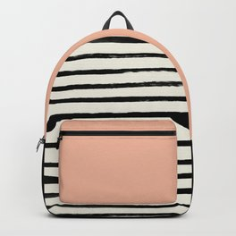 Peach x Stripes Backpack