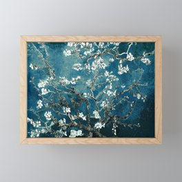 Van Gogh Almond Blossoms : Dark Teal Framed Mini Art Print