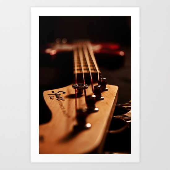 Bass Guitar  Art Print